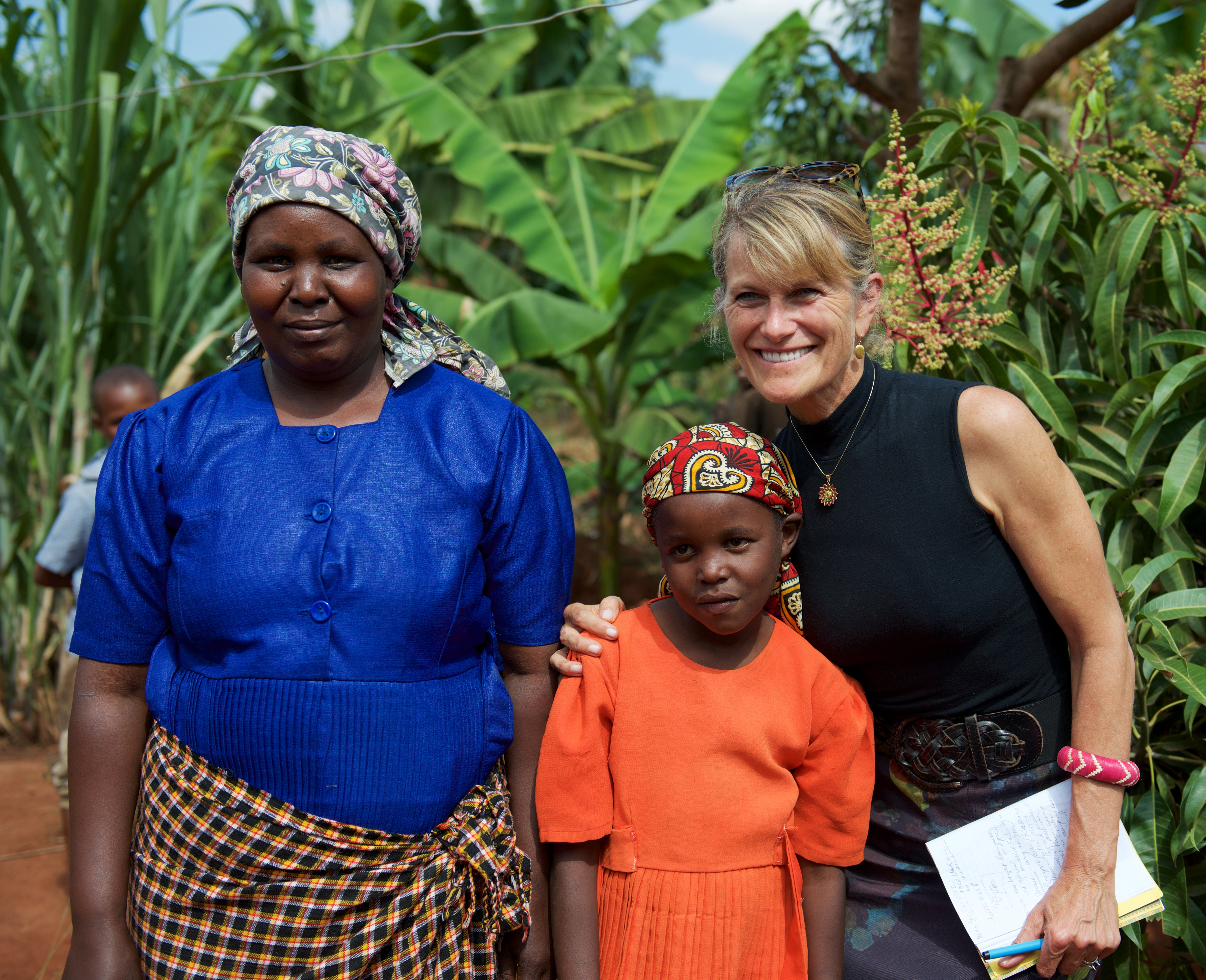 Jacqueline Novogratz with one of the families we visited in Africa