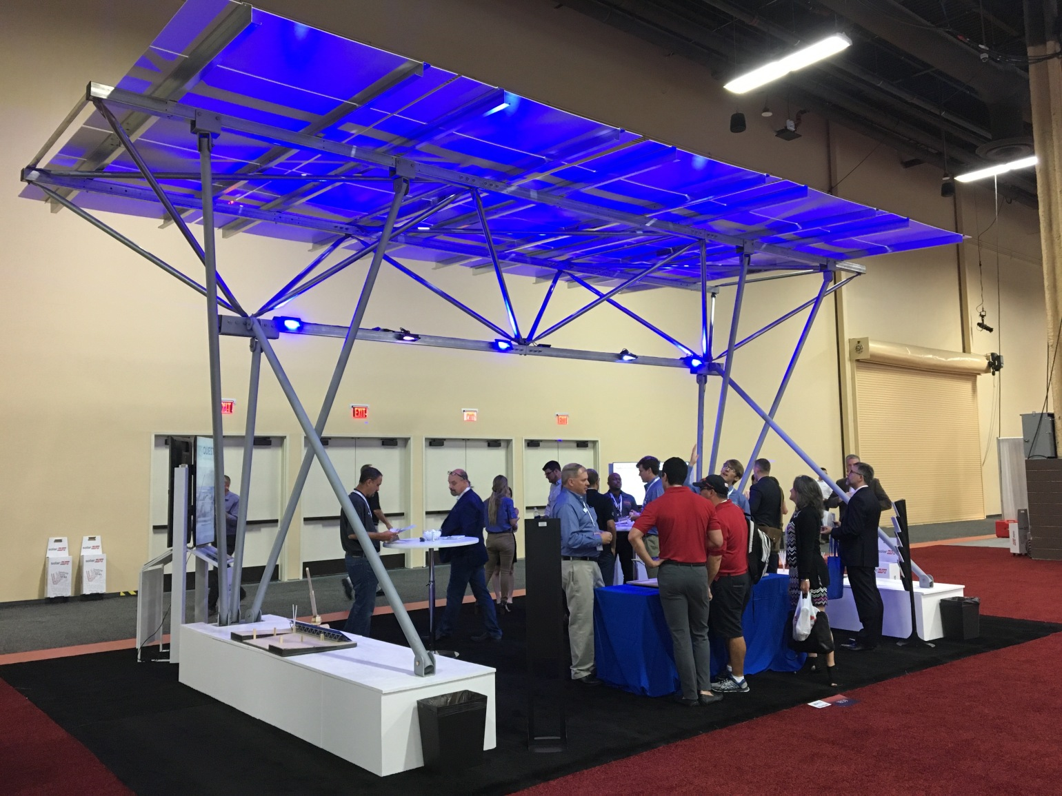Quest Renewables shows off their innovatice solar racks