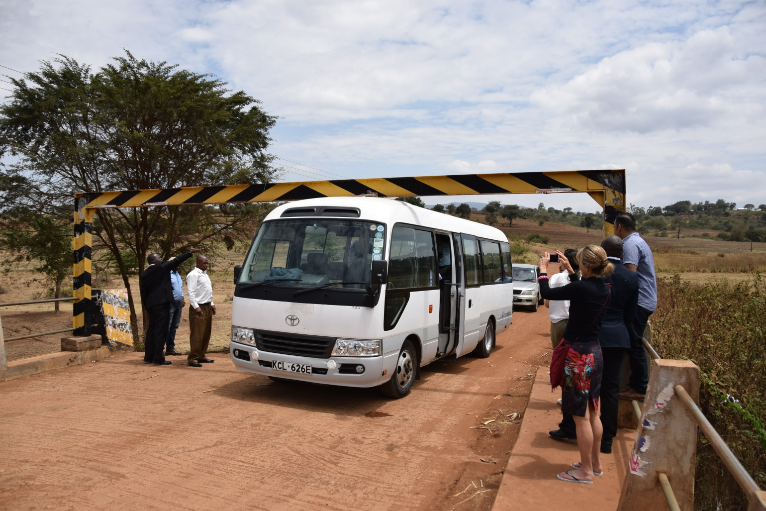 Bus gets stuck driving through rural kenya