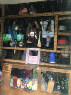 Sabines shop outside her house is no longer lit by kerosene lamps, now it uses solar